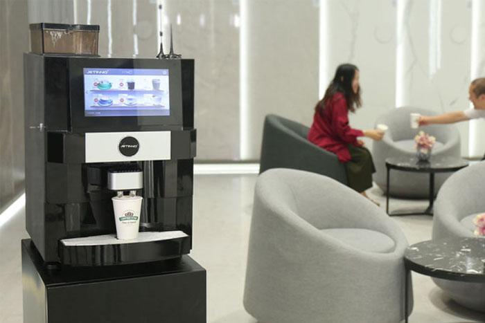 技诺智能办公室茶水间咖啡机推荐,无人售卖企业咖啡机