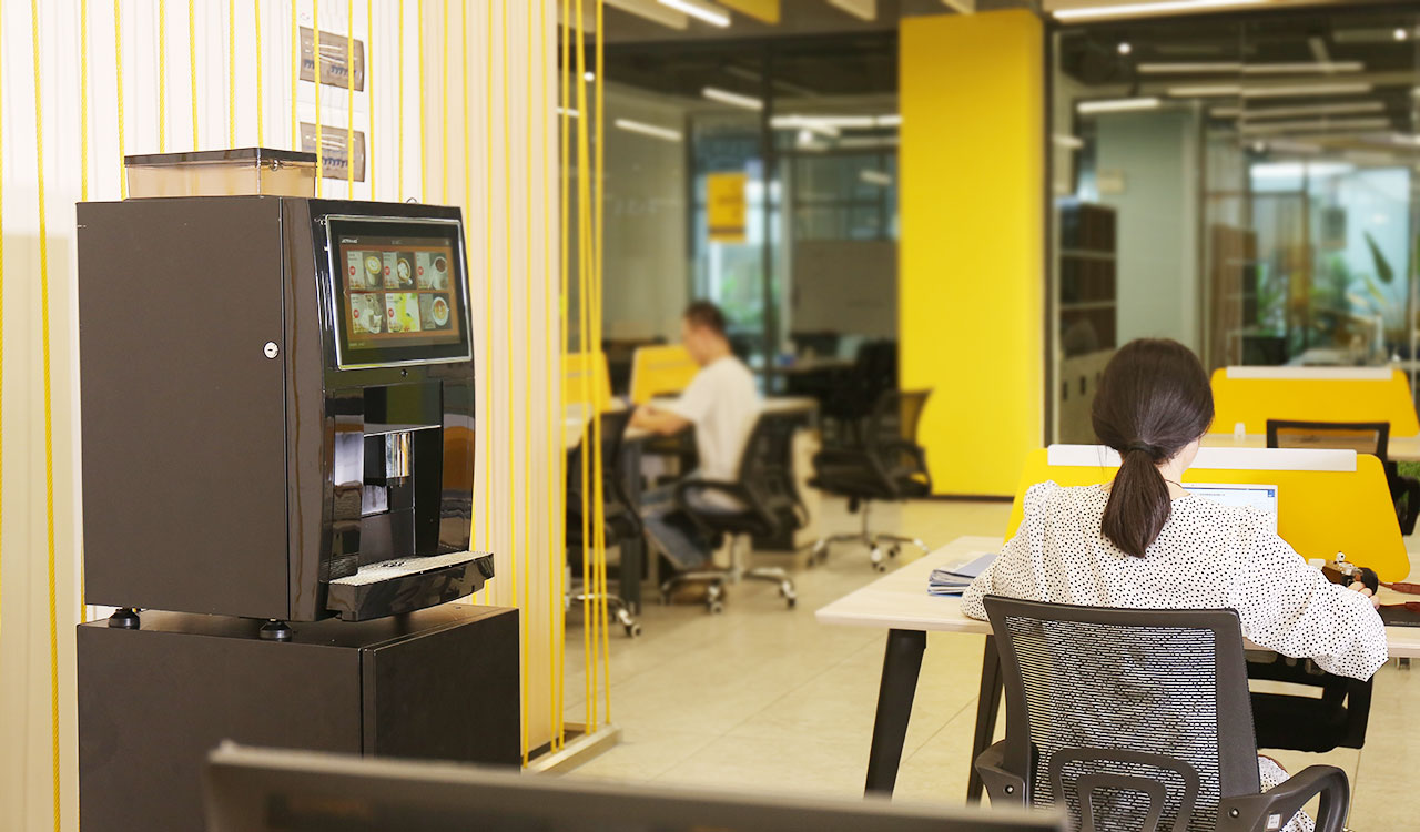 办公室现磨咖啡机推荐,自助扫码无人咖啡机,企业用咖啡机,咖啡机租赁