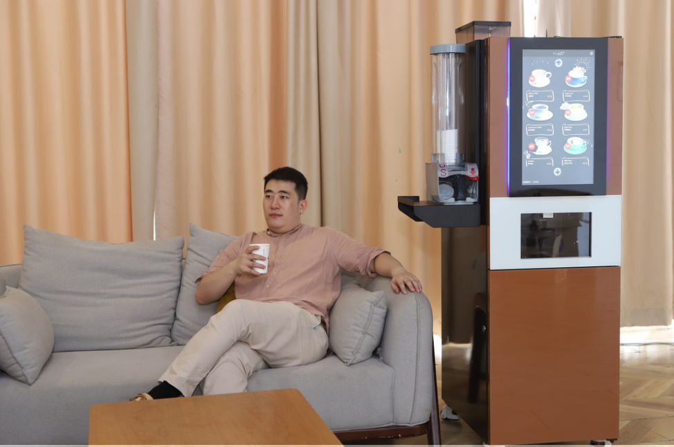 技诺FS170现磨咖啡机,商用全自动咖啡售卖机,学校办公室用咖啡机