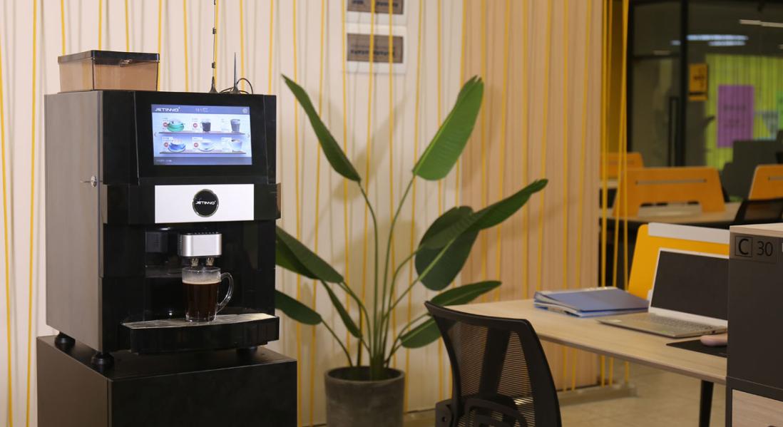 商用现磨咖啡机,无人自助咖啡机厂家,技诺现磨办公室咖啡机